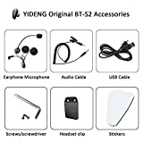 Yideng Motorcycle Intercom Accessories Earphone Microphone Audio Cable Charger Cable Mounting Clip Velcro