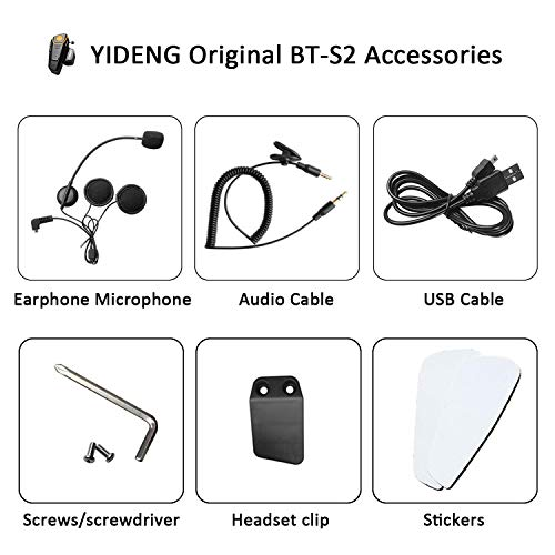 tercom Accessories Earphone Microphone Audio Cable Charger Cable Mounting Clip Velcro Kits ()