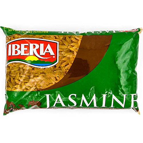 Iberia Brown Jasmine Rice, 5 lbs Long Grain Naturally Fragrant Enriched Brown Jasmine Rice