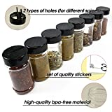 #6: Elohome Spice Jar Set of 8 Empty Bottles with Shaker Lids and Labels - 6 Oz Seasoning Containers - Storing Seasoning and Spice