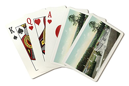 Saratoga Springs, New York - View from the Yaddo Rose Garden Terrace (Playing Card Deck - 52 Card Poker Size with Jokers) - Yaddo Gardens