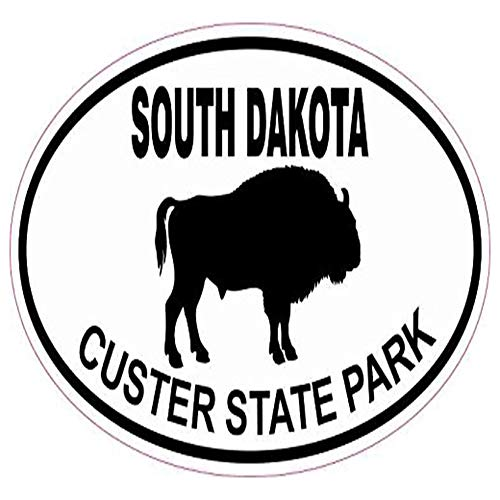 Ross Stores Buffalo Oval Custer State Park - Sticker Graphic - Auto, Wall, Laptop, Cell, Truck Sticker for Windows, Cars, Trucks ()