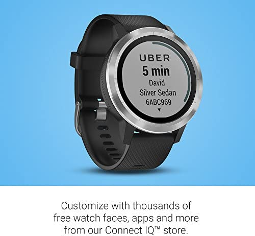 Garmin 010-01769-01 Vivoactive 3, GPS Smartwatch with Contactless Payments and Built-In Sports Apps, Black with Silver Hardware 51O 2BHo2HEVL