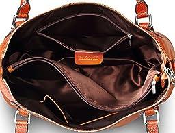 Heshe Womens Leather Vintage Handbags Shoulder Handbag Tote Top Handle Bag Cross Body Bags Satchel for Ladies Large Capacity (LSorrel)