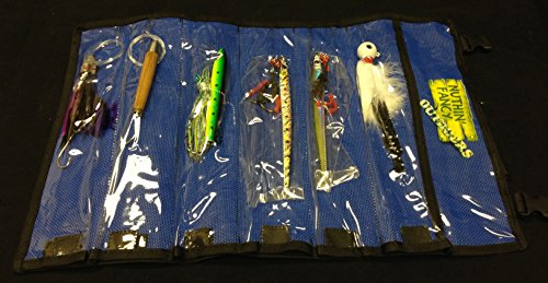6 Offshore Trolling Lures Kit Wahoo Tuna Dolphin King Mahi Saltwater w/ Free Mesh Roll-up BAG