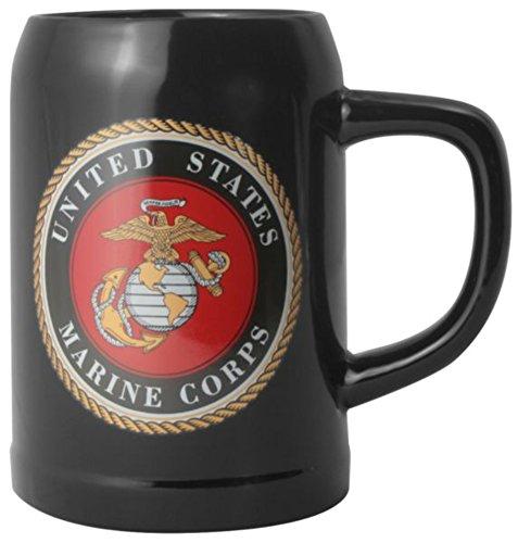 U.S. Marine Corps 20oz. Stoneware Tankard Black Stein ()