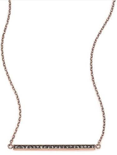 d1f8fcbc6e1cce Amazon.com: Michael Kors MKJ4369 791 Rose Gold Tone Black Crystal Pave Bar  Necklace: Jewelry