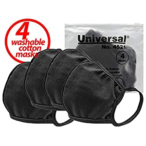Universal 4521 Face Masks – 100% Cotton, Washable, Reusable Cloth Masks – Protection from Dust, Pollen, Pet Dander…