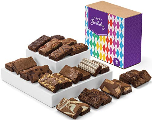 Fairytale Brownies Birthday Sprite 24 Gourmet Chocolate Food Gift Basket - 3 Inch x 1.5 Inch Snack-Size Brownies - 24 Pieces - Item CB224