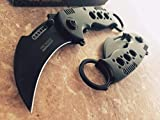 TAC-FORCE Spring Assisted G'Store Opening Knives Black KARAMBIT CLAW Rescue Pocket Knife 6 product ratings Review