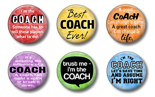 Best Coach Ever Magnets - Set of Six 1.75