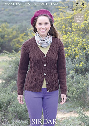 Amazon Sirdar Knitting Pattern 7119 Country Style Dk By