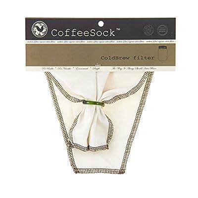 CoffeeSock 100% Organic cotton Reusable ColdBrew filter 1/2 Gallon (64oz) (Natural)