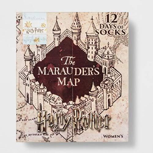 Harry Potter WOMENS THE MARAUDERS 12 DAYS OF SOCKS ADVENT CALENDAR SIZES 4-10