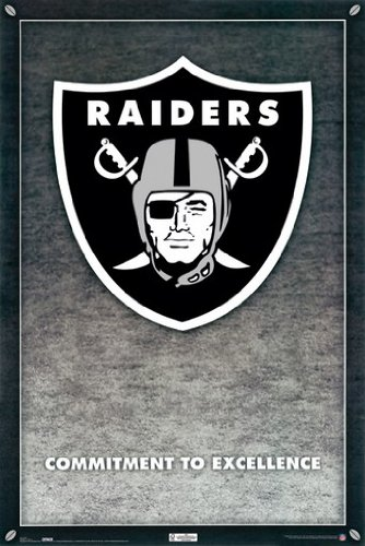 RAIDERS POSTER Oakland Logo RARE HOT NEW 24x36