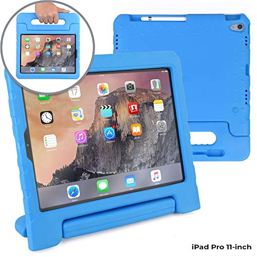 Cooper Dynamo [Rugged Kids Case] Protective Case for iPad Pro 11-inch | Child Proof Cover: Stand, Handle, Pencil Grove | A1980 A2013 A1934 A1979 (Blue)