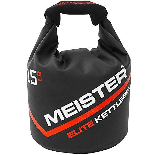 Kettle Bag - Meister Elite Portable Sand Kettlebell - Soft Sandbag Weight - 15lb / 6.8kg