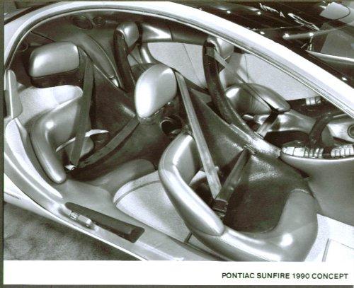 1990 Pontiac Sunfire Concept Car 8x10 interior view