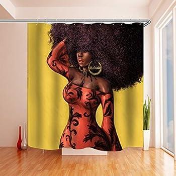 Amazon Com Black Is Beautiful Shower Curtains 71 Quot X 74