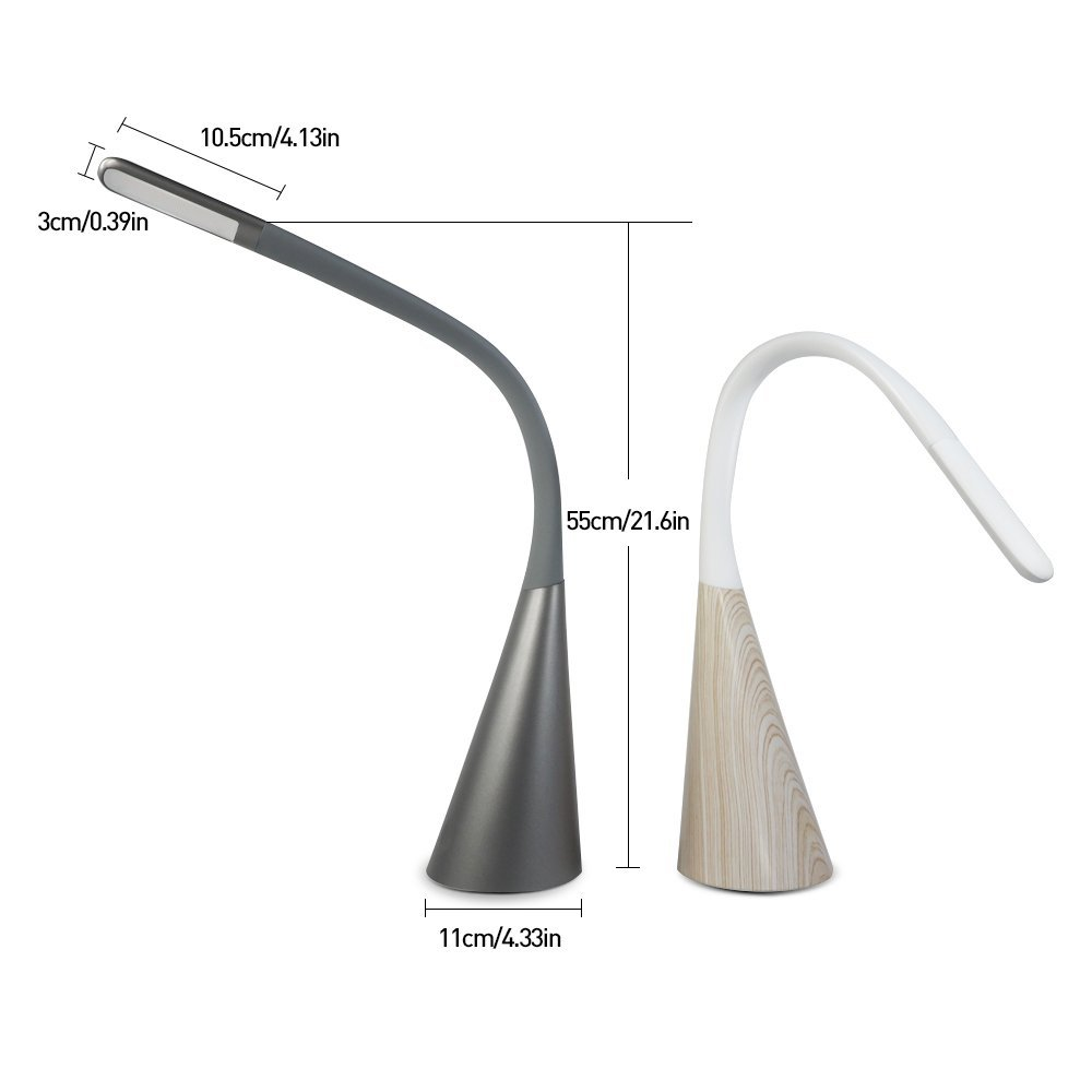LED Desk Lamp with Touch Control Swing Arm Craft Reading Light Gold Dimmable Portable Task Lamp Eye-Care Adjustable Table Lamps for Living Room//Office//Bedrooms//Kids//Nightstand//Study Back to School Ominilight
