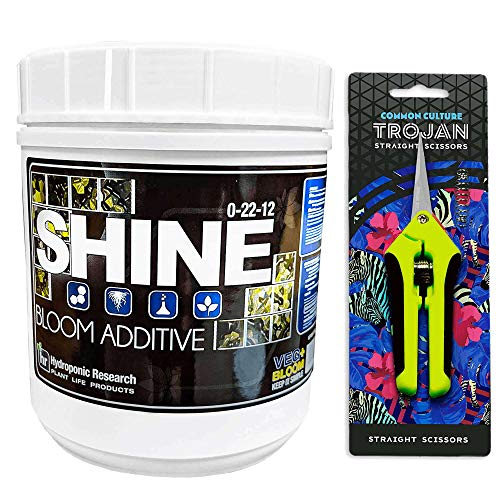 (2.2 lb Shine by Veg + Bloom- A Hydroponic Powder That Enhances The Bloom Stage of Plant Growth. Add to Reservoir During to Maximize Crop Production | Common Culture Trimming Scissors Included)