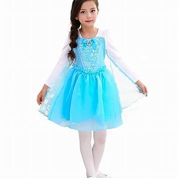 Las niñas Elsa princesa disfraz vestido Cosplay disfraz de ...