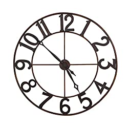 CC Home Furnishings 30 Trendy Oversized Numbers Open Frame Iron Wall Clock