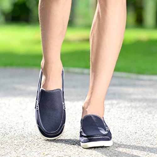 Espadrillas selvagge da uomo Blue Scarpe Scarpe tavola casual tendenza basse nuove Size Dark blue scarpe da di estiva da tela stile 45 scarpe scarpe Dark uomo Color traspirante rrHZqwPU