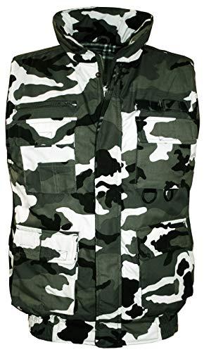 Vest Multi Camo - Guytalk Men's Outdoor Sports Military Hunting Fishing Multi Pockets Vest Small CAMO-1
