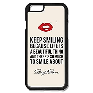 Alice7 Keep Smiling Case For Iphone 6,Quotes Iphone 6 Case