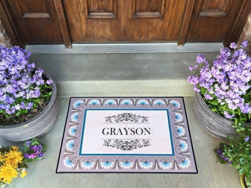 Qualtry Personalized by Last Name Outdoor Doormat Entrance Rugs - Non Slip Front Door Welcome Mats (Large Size 36