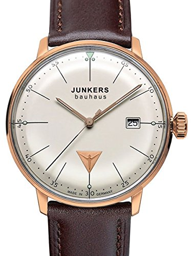 Junkers Bauhaus Swiss Quartz Watch with Domed Hesalite Crystal 6074-1