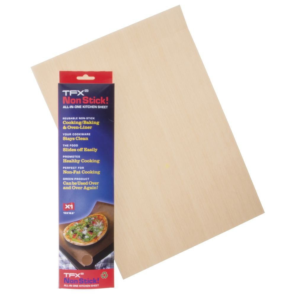 TFX Brown Glass Fabric Reusable Nonstick Baking Sheets with PTFE Coating - 16 1/2''L x 11 5/8''W