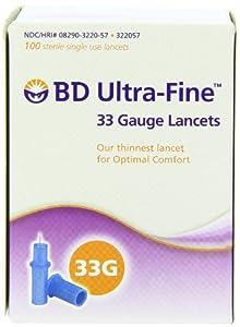 BD ultra-fine gauge lancet