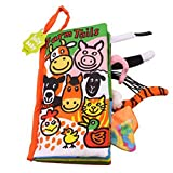Zantec Juguetes Creativos, Libro de tela de dibujos animados Stereo Animal Tails Bebé Niños Decoración de la cama Early Educational Toy Christmas Gift