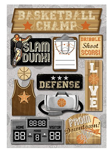 - KAREN FOSTER Cardstock Stickers, Basketball Champ,