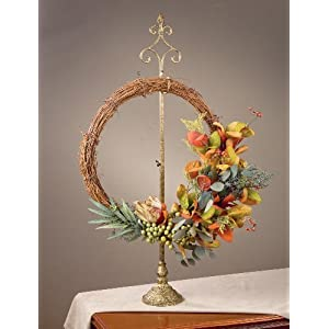 TRIPAR Parisian Wreath Stand - Adjustable Height 20