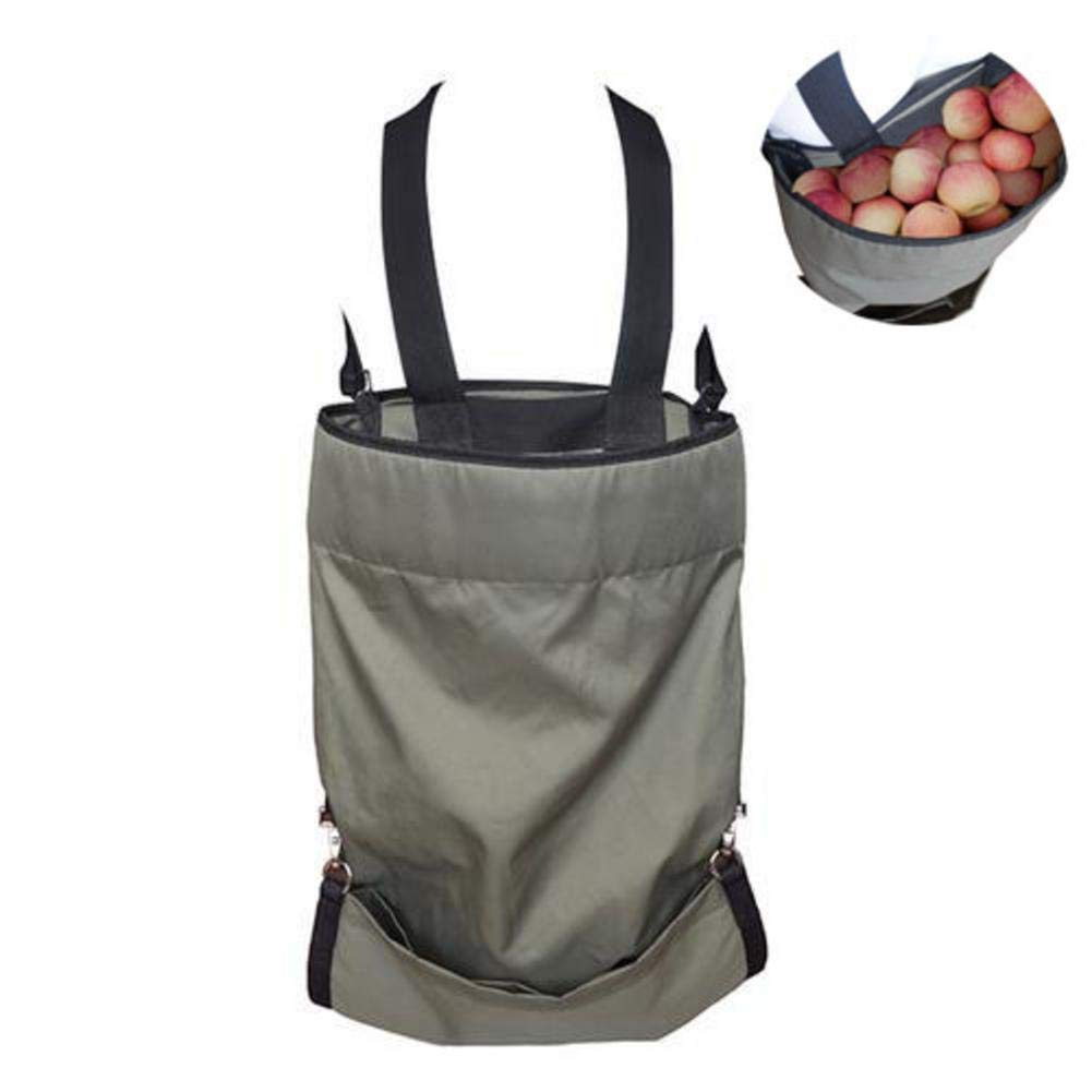 IMSHI Large Oxford Cloth Fruit Picking Bags - Waterproof Harvest Vegetables and Fruits Picking Apron Storage Bag for Orchard 19.3 * 33.9 inch Green IMSHI®