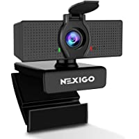 1080P Web Camera, HD Webcam with Microphone & Privacy Cover, 2020 NexiGo N60 USB Computer Camera, 110-degree Wide Angle…