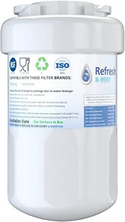 GE MWF Compatible Refrigerator Water Filter Also fits Kenmore 9991 MWFA GE MWF 469991 46-9991 Smartwater By Clear Drop GWF MWFP 3 Pack GWFA