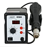 Picture of F2C 858D SMD Rework Station Hot Air Gun Digital Solder Soldering Stations Iron Holder W/3 Nozzles + Accessories 700W