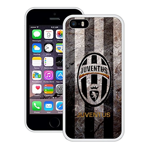 Juventus | Handgefertigt | iPhone 5 5s SE | Weiß TPU Hülle