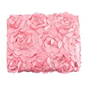 NFT Baby Photography Props Newborn 3D Rose Flower Photography Photo Backdrop Blanket Rug (Pink)