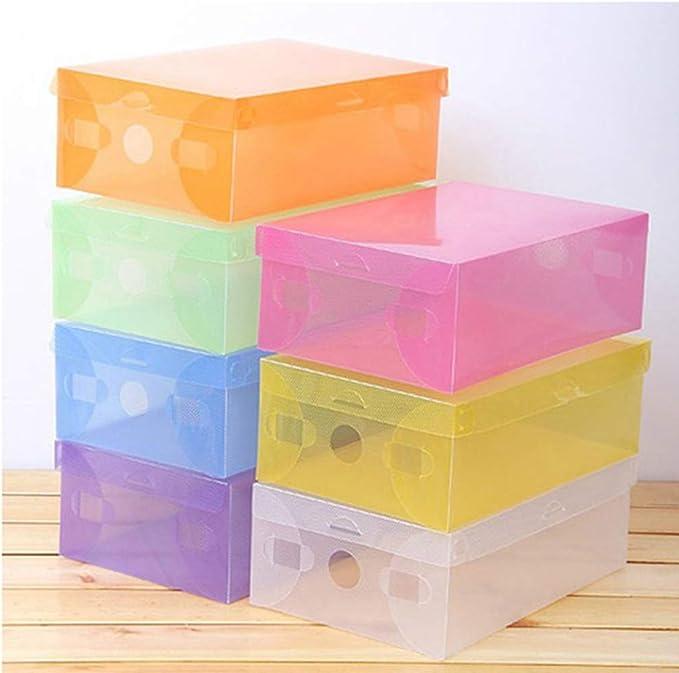 Ounona - Caja para zapatos de plástico apilable, ahorra espacio ...