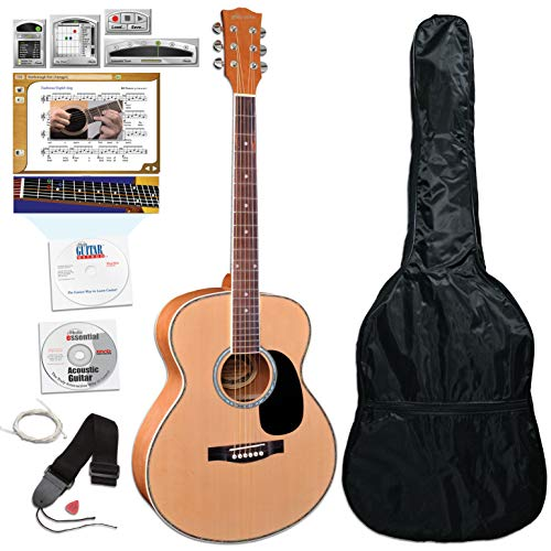 eMedia Teach Yourself Acoustic Guitar Pack with Upgrade to eMedia Guitar Method v6 lessons - Full-Size Guitar, Gig Bag, Strap, Strings, Pick, and More