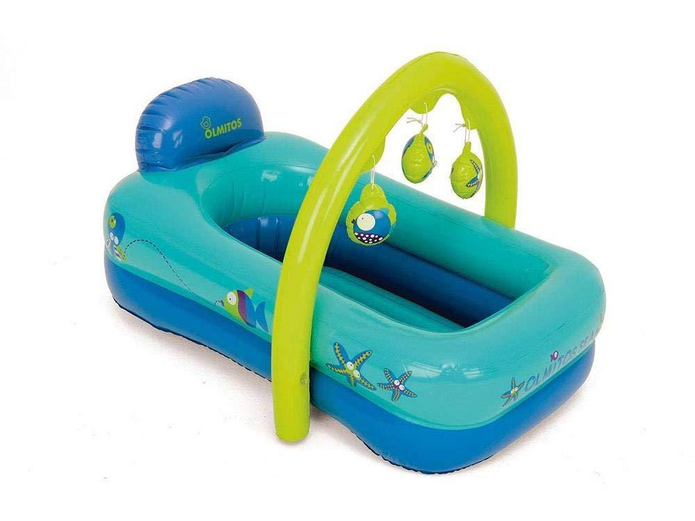 Olmitos 1703496031 - bañera hinchable con juguetero
