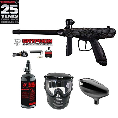(MAddog Tippmann Gryphon FX Beginner HPA Paintball Gun Package - Skull)