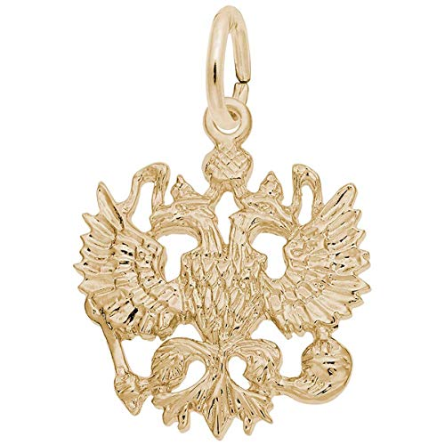 Rembrandt Charms Russian Imperial Eagle Charm, 14K Yellow Gold ()