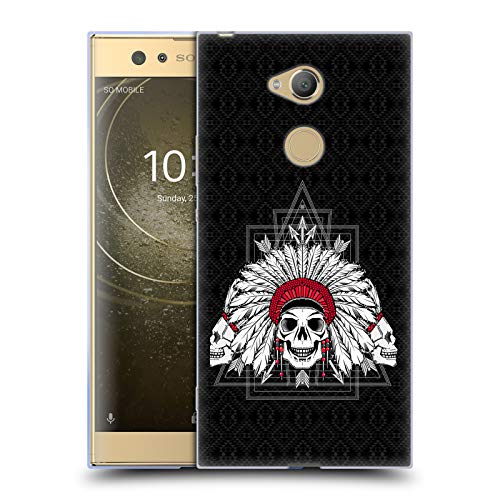 Official Chobopop Indian Skull Illustrations Soft Gel Case for Sony Xperia XA2 Ultra