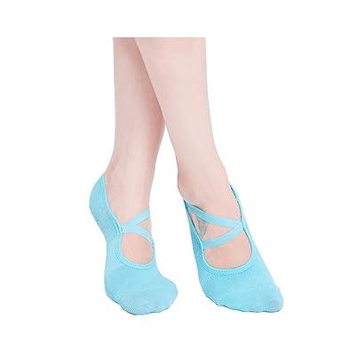 Calcetines Yoga para La Mujer Calcetines Antideslizantes con ...